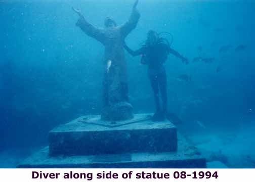 Christ of the abyss and a diver