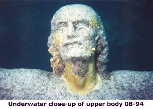 Christ of the abyss close-up