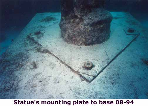 Christ of the abyss mounting plate